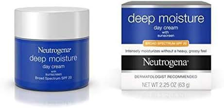 Neutrogena Deep Moisture Day Cream with Sunscreen, 2.25 Ounce - 12 per case.