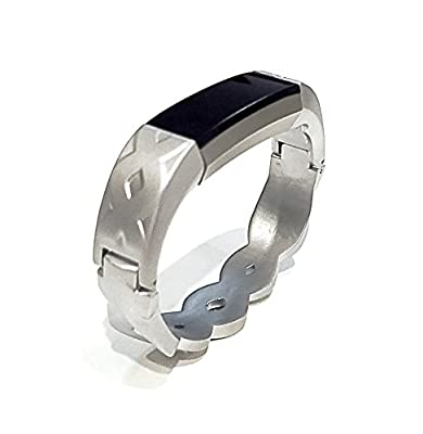 BSI Silver Metal Band Infinity Unique Design For Fitbit Alta Activity Tracker