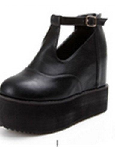 Xzz Punta Black Casual us8 Negro Uk6 Uk3 De Eu39 Botas Eu35 Cn39 us5 Cn34 Semicuero Zapatos Black Redonda Plataforma Mujer rxRWrnqf