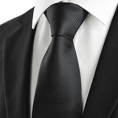 FYios®Los hombres de raza negra a rayas clásica corbata Corbata ...
