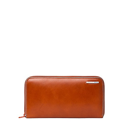 Piquadro Woman's Wallet In Leather, Orange, One Size by Piquadro