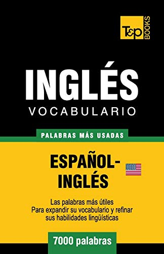 Libro : Vocabulario español-ingles americano - 7000 pala...