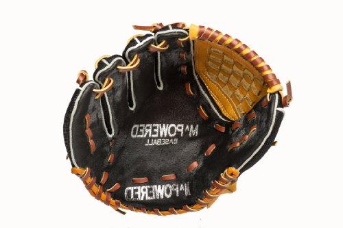 (Mpowered Baseball Youth Ultra Lite Web Basket Baseball Glove, Black and Tan, Left Hand Throw)