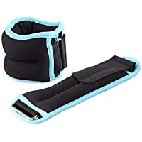 Mexidi Durable Ankle Wrist Leg Weights Strap for Women, Men and Kids - Fully Adjustable Comfort, Fit for Fitness, Exercise, Walking, Jogging, Gymnastics, Aerobics, Gym,1PC (Blue)