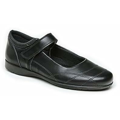 Amazon.com | Toughees Rebecca Girls Leather School Shoes