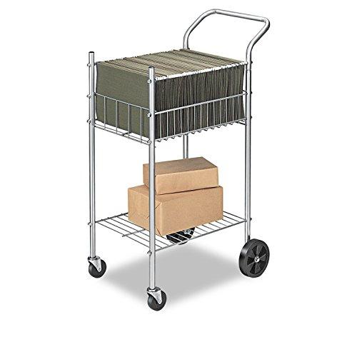 (Economy Mail Cart, 2-Shelf, 20-1/2w x 38d x 39-1/4h, Chamois)