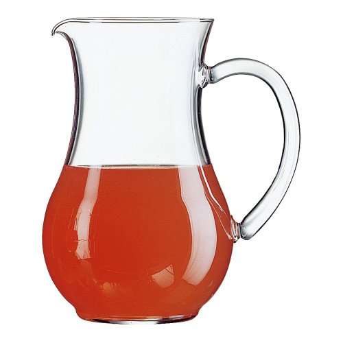 Arcoroc 55239 Curved 44 Oz. Pitcher with Pour Lip - 6 / CS