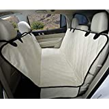 4Knines Dog Seat Cover with Hammock for Full Size Trucks and Large SUVs - Tan Extra Large - USA Based