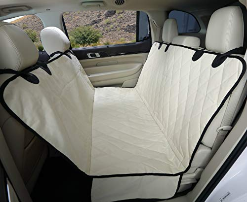 4Knines Dog Seat Cover with Hammock for Full Size Trucks and Large SUVs - Tan Extra Large - USA Based Company (Best Hair Color For Grey Coverage 2019)