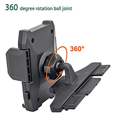 Universal CD Slot Phone Mount, Car Cell Phone Holder with One Hand Operation Design for iPhone 11/Xs/Xr/X/8 Plus/8/7/6, Samsung Note 10+/10/9/8/7, HTC, LG and More 3.5-6.5 inch Cell Phones