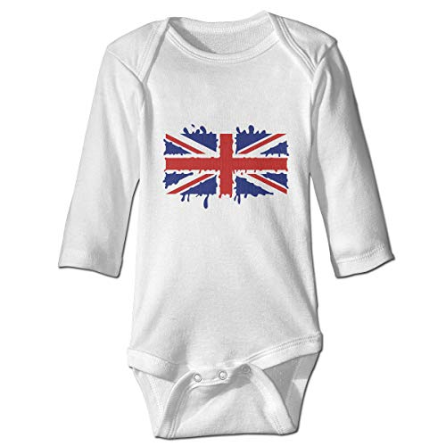 Moulton Mansfield Watercolor British Flag Unisex Baby Newborn Long Sleeve Onesies Bodysuits Cotton]()