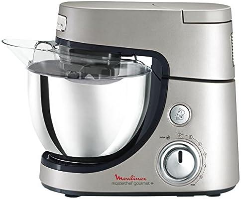 Moulinex Masterchef Gourmet + 900W 4.6L Gris, Acero inoxidable - Robot de cocina (4,6 L, Gris, Acero inoxidable, Botones, Giratorio, Acero inoxidable, 900 W): Amazon.es: Hogar