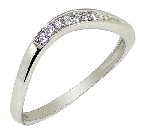 Banithani 925 argent sterling excellente anneau de bande de doigt en pierre cz indien bijoux fantaisie