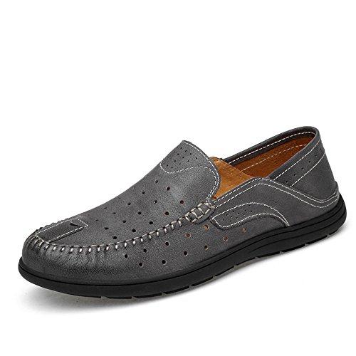 En Gray Soleboat Zapatos Ofgcfbvxd Soft 42 Black Hombres Amplios Patch Penny Eu Rubber Casuales Hollwo Mocasines Vamp Más Deslizamiento Ligero Tamaño Para Loafers color Conducción pSvnOrpq