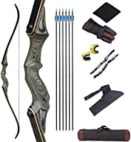 """NC93 Black Hunter Takedown Recurve Bow Archery Set 60"""" Archery Hunting Bow for Hunting Target Practice- R"""