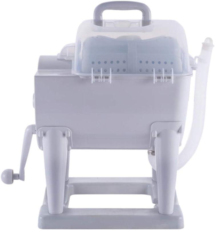 WOAIM Pequeña Mini Lavadora Calcetines Interior Ropa Artefacto Secadora Manual Deshidratación Manual Máquina de deshidratación