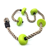 HappyPie Five Knotted Climbing Pp Rope for Kids-Green