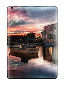 Durable Protector Case Cover With Sunset Building Reflections Beautiful Town Water Sundown Nature Other Hot Design For Ipad Air