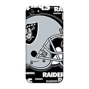 Scratch Resistant Cell-phone Hard Covers For Iphone 5/5s With Customized High-definition Oakland Raiders Series SherriFakhry