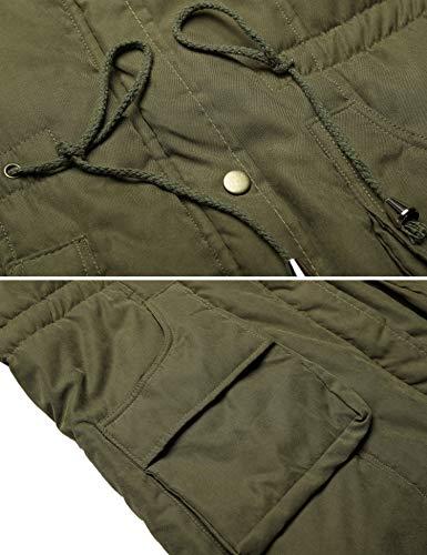 f133fcb46 Beyove Womens Military Hooded Warm Winter Faux Fur Lined Parkas Anroaks  Long Coats