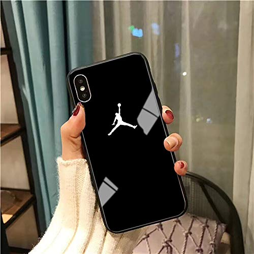 1 piece Flyman Air 23 Jordan Glass Case for iPhone X Xs Max Xr 8 7 6 6s Plus Sports Simple Cover For Samsung S10 S9 S8 Note 9 Coque capa (Best Iphone 3g Themes)