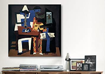 iCanvasART Three Musicians Canvas Print by Pablo Picasso, 18 x 18