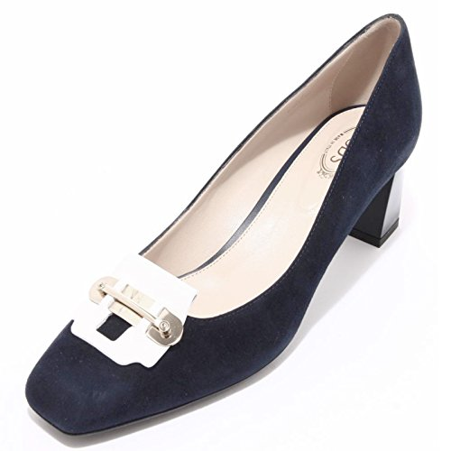 Tod's 94207 SU Blu Donna Gomma Scarpa Women Shoes T55 Decollete blu drxqOwpdvX
