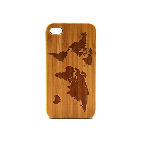 Krezy Case Real Wood iPhone 5s Case, World Map iPhone 5s Case, Wood iPhone 5s Case, Wood iPhone Case,