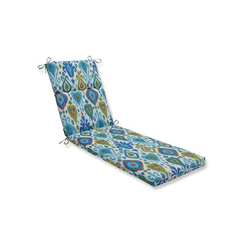 Pillow Perfect Outdoor   Indoor Paso Caribe Chaise Lounge Cushion, Blue, 72.5 X 21 X 3 (Lounge Bohemian Chaise)