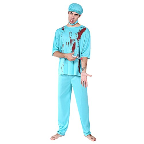 (Zhuhaitf Medieval Costume Party Halloween Mens Cosplay Robe Style 5-7)