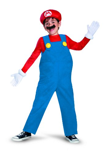 Boy's Nintendo's Super Mario Brothers Deluxe Costume, 7-8 (Nobbies Halloween Costumes)
