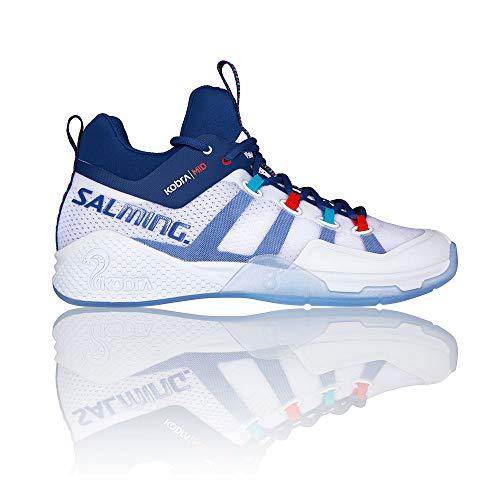 Salming Kobra MID 2 Indoor Handball Shoes white/blue, EU Shoe Size:42 EU ()
