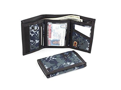 Rainbow Tri Fold Wallet - Rainbow of California Trifold Wallet w/Inside ID. Hook n Loop Closure. Made in USA (NWU)