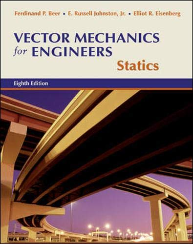 Vector Mechanics for Engineers: Statics w/CD-ROM