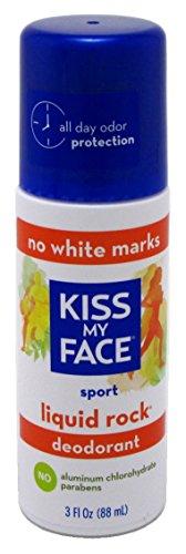 Kiss My Face Deodorant Liquid Rock Roll-On Sport 3 Ounce (88ml) (2 Pack)