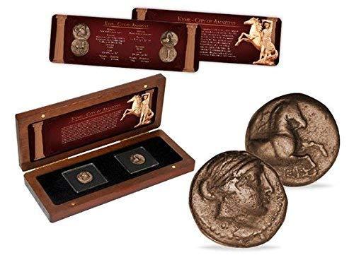 IMPACTO COLECCIONABLES Monedas Antiguas - 2 Monedas de Bronce de la Ciudad de Las Amazonas: Amazon.es: Juguetes y juegos