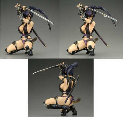 Tandem Twin Animal Girls: Lynx (Amethyst) PVC Figure (Tandem Twin Animal)