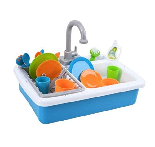 Spark Kitchen Sink and Spark Create Imagine Microwave Set Red and Blue Toy - Play Microwave