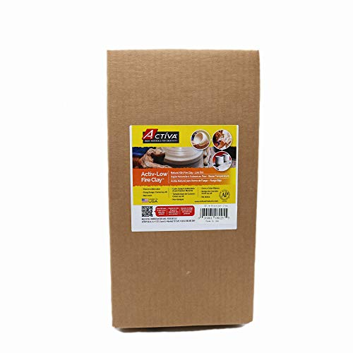 ACTIVA Blackjack Low Fire Clay, 25 pounds White