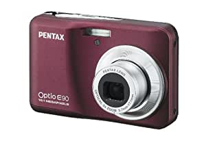 Pentax Optio E90 10 MP Digital Camera with 3x Optical Zoom and 2.7-Inch LCD (Wine Red)