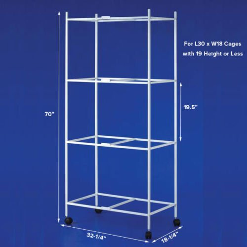 4 Tiers Stand for 30'x18'x18'' Aviary Bird Cages White by Mcage