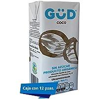 GÜD Alimento Líquido de Coco sin Azúcar Ultrapasteurizado, 1L x 12 piezas