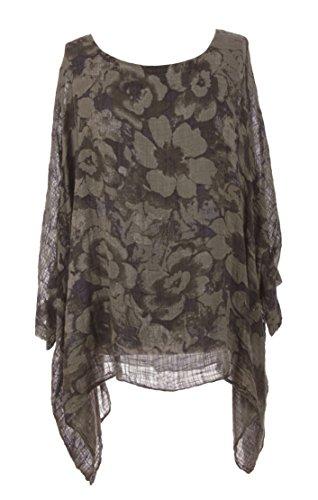 Unknown - Camisas - Floral - para mujer moca