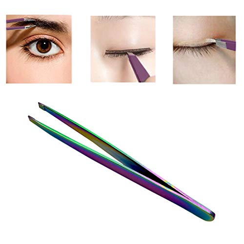 Angled Slanted Eyebrow Tweezers Stainless Steel Face Hair Removal Eye Brow Trimmer Eyelash Clip Cosmetic Beauty Makeup Tool