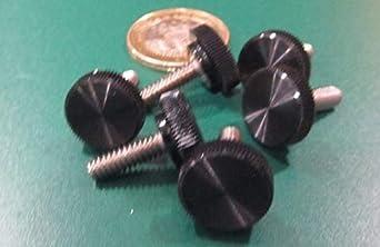 Thread Size #10-24 FastenerParts Acetal Plastic-Head Thumb Screw with Hex Drive