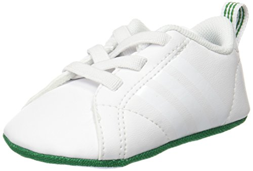 adidas Unisex Babies' Vs Advantage Crib Low-Top Sneakers, Multicolor (FTWR White/FTWR White/Green), 18-24 Months