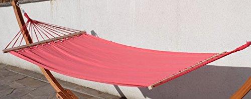 Stabhängematte Hängematte Ersatzhängematte 200x120cm ROT aus Baumwolle von AS-S