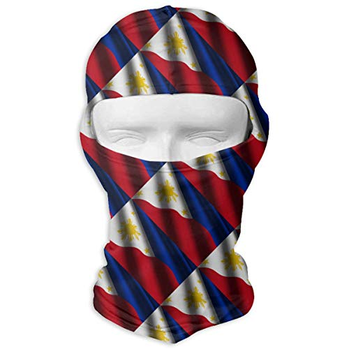 Leopoldson Cool Philippines Waving Flag Balaclava UV Protection Windproof Ski Face Masks for Cycling Outdoor Sports Full Face Mask -