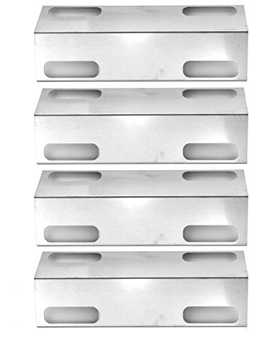 4 Pack Stainless Steel Replacement Heat Plate for Ducane 3000D, Affinity 3000 Series, 3073101, Affinity 3100, Affinity 3300, Affinity 3400, Affinity 4100, Affinity 4200, Affinity 4400 Gas Grill Models