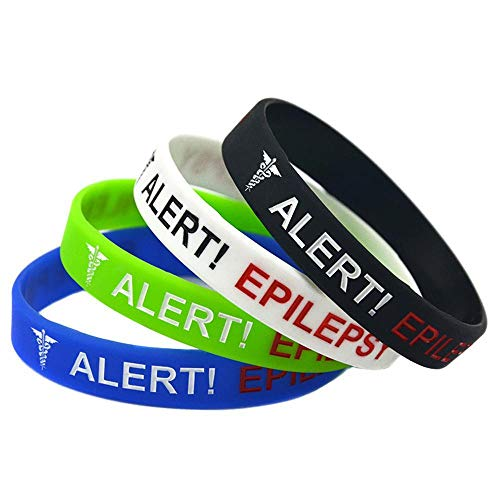 - Dixinla Sports Wristbands Fashion Bracelet Silicone Alert Epilepsy Hand Ring concave-Fill Child Hand Ring Set of 4 Pieces